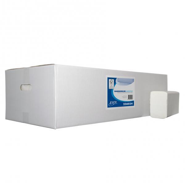 Vouwhanddoek papier 32x20,6 cm multifold europroducts<br><span class='title2'>100% cellulose handdoek</span>