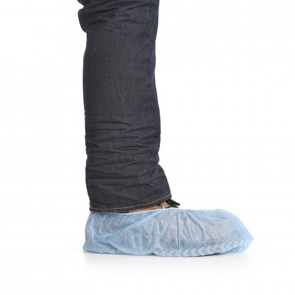 schoenhoes, schoenovertrek blauw klein verpakking