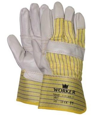Meubelleder handschoen met<br><span class='title2'>palm versterking</span>