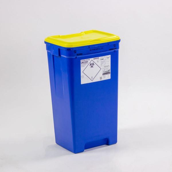 ransportvat 60 liter speciaal voor ziekenhuisafval zonder inwerpopening