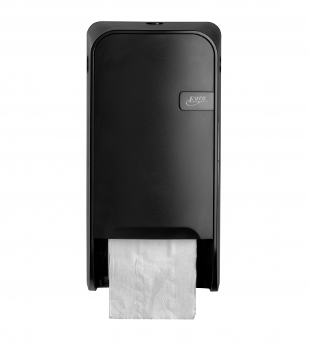 Toiletrolhouder doproldispenser<br><span class='title2'>Quartz black t.b.v. toiletpapier met dop</span>