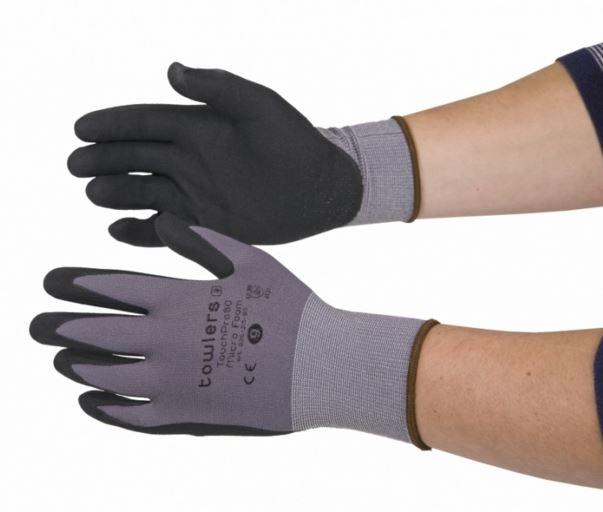 Nitril handschoen<br><span class='title2'>Foam grip</span>