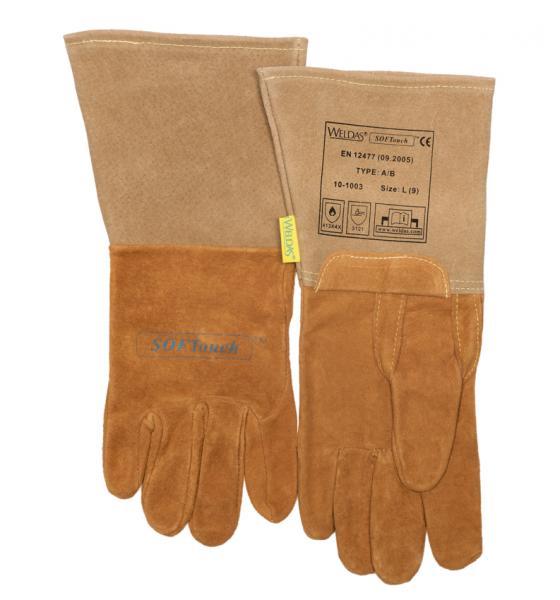 Lashandschoen soft touch<br><span class='title2'>Weldas</span>
