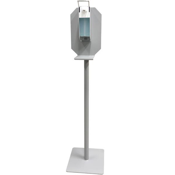 Hygiënezuil met elleboog bediening<br><span class='title2'>dispenser op paal</span>